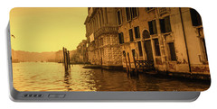 Morning In Venice Sepia Portable Battery Charger