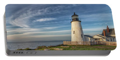 Morning Light At Pemaquid Point Portable Battery Charger