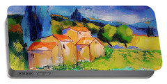 Portable Battery Charger featuring the painting Morning Light By Elise Palmigiani by Elise Palmigiani
