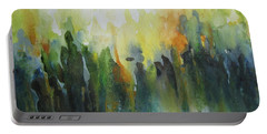 Portable Battery Charger featuring the painting Morning Light by Elena Oleniuc