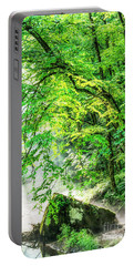 Morning Light In The Forest Portable Battery Charger