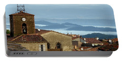 Morning Mist In Provence Portable Battery Charger by Lainie Wrightson
