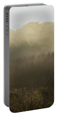 Morning Mist On The Trail Portable Battery Charger