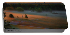 Portable Battery Charger featuring the photograph Morning Mist Over Dyarna #h7 by Leif Sohlman