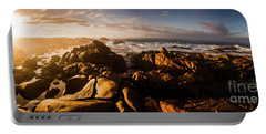 Morning Ocean Panorama Portable Battery Charger by Jorgo Photography - Wall Art Gallery