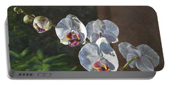 Morning Phaleanopsis Portable Battery Charger