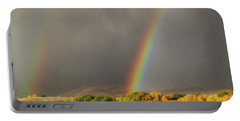 Morning Rainbow In Wyoming Portable Battery Charger