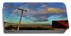 Morning Rainbow Over Kalaupapa Portable Battery Charger by Craig Wood