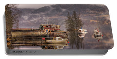 Morning Reflections Of Loch Ness Portable Battery Charger by Ian Middleton