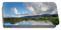 Morning Reflections On A Marsh Pond Portable Battery Charger by Greg Nyquist