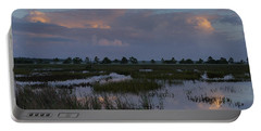 Morning Reflections Over The Wetlands Portable Battery Charger