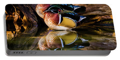 Morning Reflections - Wood Ducks Portable Battery Charger