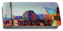 Morning Rush - The Corner Of Salem Avenue And Williamson Road In Roanoke Virginia Portable Battery Charger by Bonnie Mason