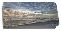Morning Sky At The Beach Portable Battery Charger by HH Photography of Florida