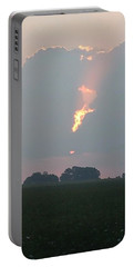 Morning Sky On Fire Portable Battery Charger