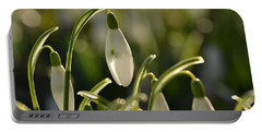 Morning Snowdrops Portable Battery Charger