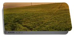 Portable Battery Charger featuring the photograph Morning Sun. Moravian Tuscany by Jenny Rainbow