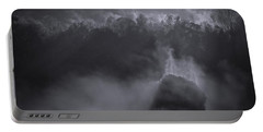 Portable Battery Charger featuring the photograph Morning Sun Rising Fog Cades Cove by Dan Sproul