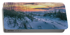 Morning Sunrise At The Beach Portable Battery Charger