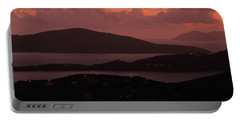 Portable Battery Charger featuring the photograph Morning Sunrise From St. Thomas In The U.s. Virgin Islands by Jetson Nguyen