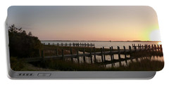Morning Sunrise Over Assateaque Island Portable Battery Charger by Donald C Morgan
