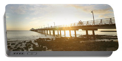 Morning Sunshine At The Pier  Portable Battery Charger
