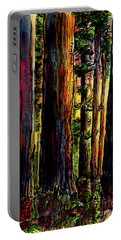 Morning Trees Portable Battery Charger by Terry Banderas