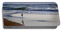 Morning Walk At Ormond Beach Portable Battery Charger