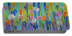 Morning Wildflowers Portable Battery Charger