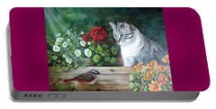 Portable Battery Charger featuring the painting Morningsurprise by Patricia Schneider Mitchell