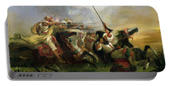 Moroccan Horsemen In Military Action Portable Battery Charger
