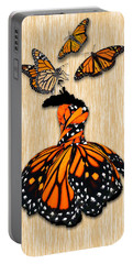 Portable Battery Charger featuring the mixed media Morphing by Marvin Blaine