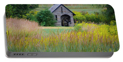 Portable Battery Charger featuring the photograph Morris Arboretum Mill In September by Bill Cannon