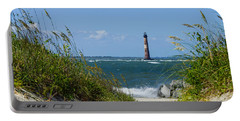 Morris Island Lighthouse Walkway Portable Battery Charger by Jennifer White