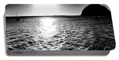 Morro Rock, Black And White Portable Battery Charger