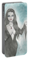 Morticia Addams Portable Battery Charger