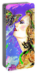Portable Battery Charger featuring the digital art Mosaic Dreams by Desline Vitto