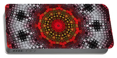 Portable Battery Charger featuring the digital art Mosaic Kaleidoscope 2 by Shawna Rowe