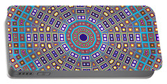 Portable Battery Charger featuring the digital art Mosaic Kaleidoscope  by Shawna Rowe