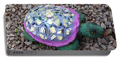 Portable Battery Charger featuring the ceramic art Mosaic Turtle by Jamie Frier