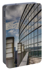 Portable Battery Charger featuring the photograph Moscone West Balcony by Darcy Michaelchuk