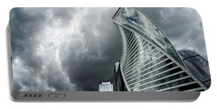 Moscow City And Storm Portable Battery Charger by Anastasy Yarmolovich