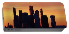 Moscow City In Sunset Portable Battery Charger