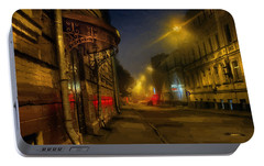 Portable Battery Charger featuring the photograph Moscow Steampunk Sketch by Alexey Kljatov