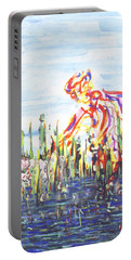Moses In The Rushes Portable Battery Charger