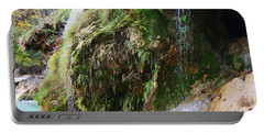 Portable Battery Charger featuring the photograph Moss And Waterfalls by Sheila Brown
