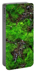 Portable Battery Charger featuring the photograph Moss On The Hillside by Mike Eingle