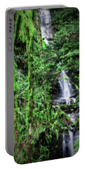 Mossy Trees And Waterfalls  Portable Battery Charger