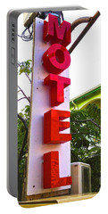 Portable Battery Charger featuring the photograph Motel by Beth Saffer