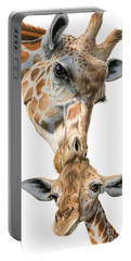 Mother And Baby Giraffe Portable Battery Charger